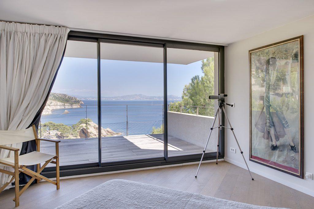 Villa d'architecte avec vue mer panoramique