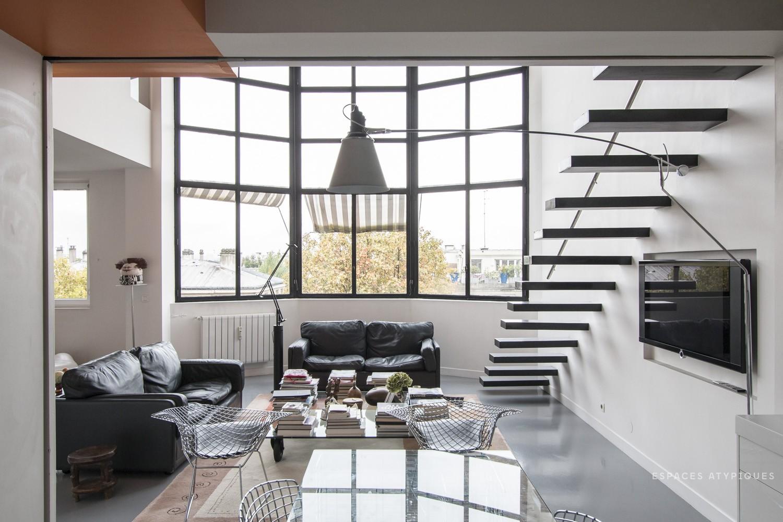 Espaces atypiques loft atelier terrasse maison - Deco appartement duplex contemporain ...