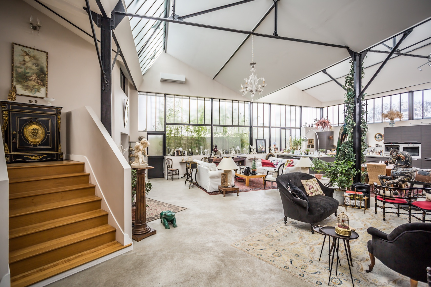 espaces atypiques loft atelier terrasse maison architecte contemporain. Black Bedroom Furniture Sets. Home Design Ideas