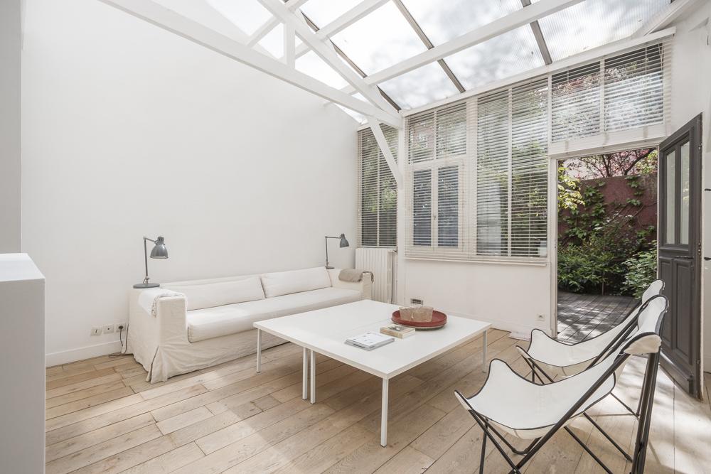 Espaces atypiques loft atelier terrasse maison architecte contemporain for Maison du jardin paris