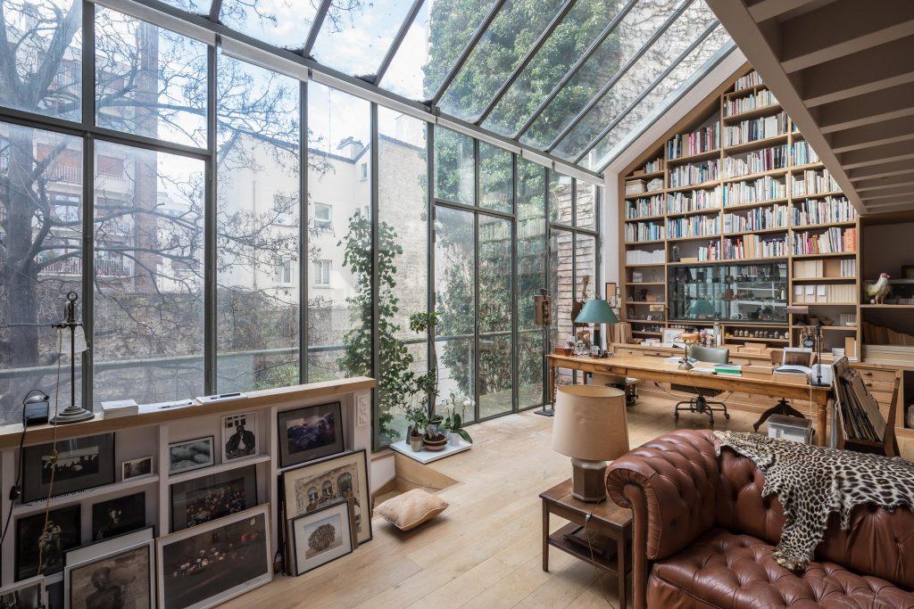 Maison d'architecte avec jardin